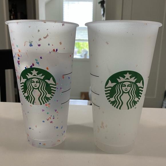 Starbucks Confetti Cups